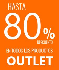80% descuento outlet